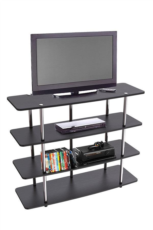 XL Collection Highboy TV Stand with Stainless Steel Supports