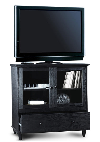 Tahoe Collection Bedroom Height Black Tv Stand