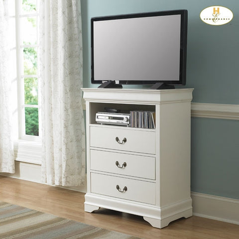 Marianne Collection Bedroom Height Stand in White