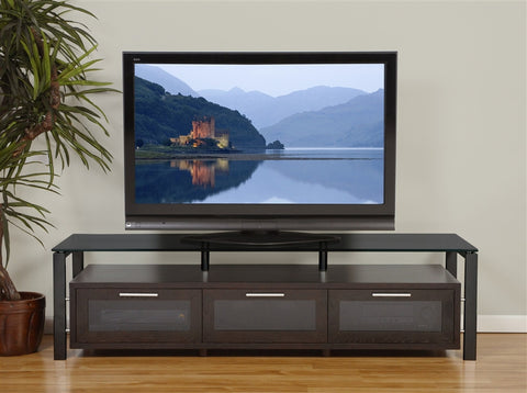 "Premium 71"" Modern Flat Screen Stand with Optional Finishes"