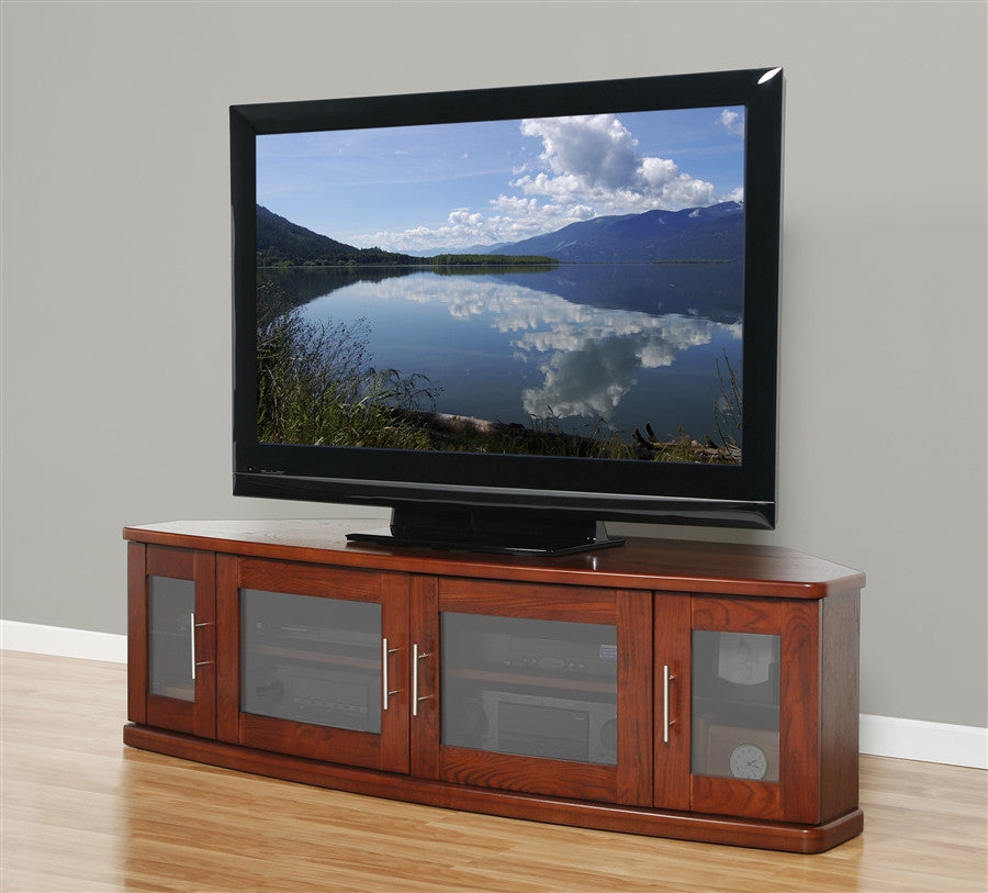 "Newport Collection 62"" Premium Walnut Flat Screen TV Stand"