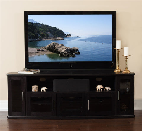 "Newport Collection 80"" Premium Black Oak Flat Screen TV Stand"