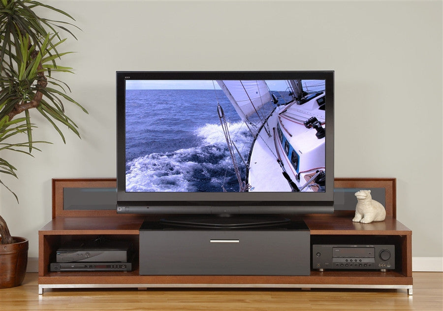 premium valencia collection modern walnut flat screen tv stand
