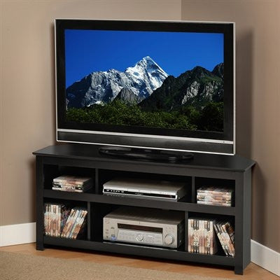 Vasari Modern Black Corner Flat Screen TV Stand
