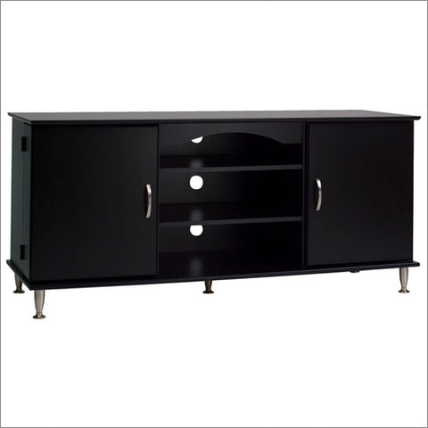 "58"" Modern Black Plasma / LCD Flat Screen TV Stand"