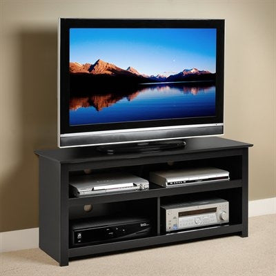 "48"" Vasari Modern Black Flat Screen TV Stand"