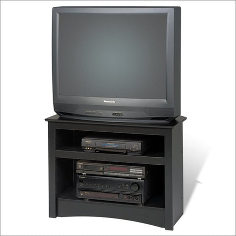 Black Corner TV Stand for Flat Screen or CRT TVs