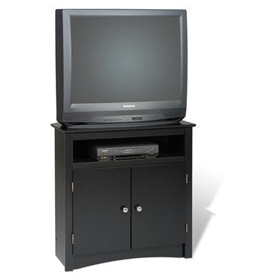 Tall Black Corner TV Stand for Flat Screen or CRT TVs
