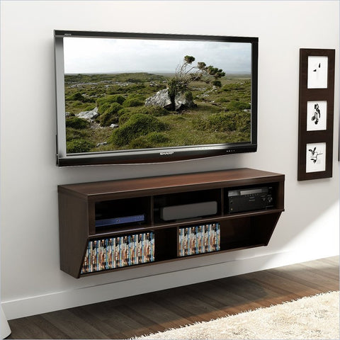 "58"" Espresso Wall Mounted Component / Media Stand"