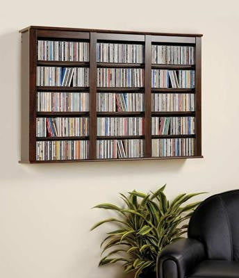 Espresso Wall Mounted Maximum Media Storage