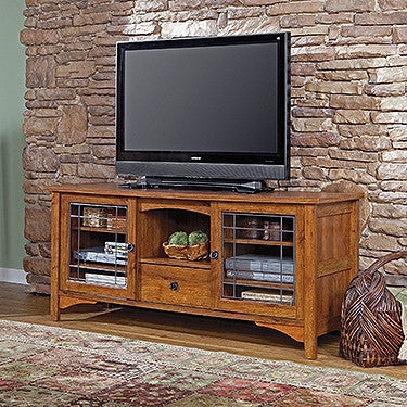 "Harvester Collection 63"" Flat Screen TV Stand in Abbey Oak"