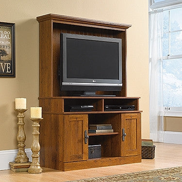 "Harvester 43"" Modern TV Stand with Hutch in Abbey Oak"