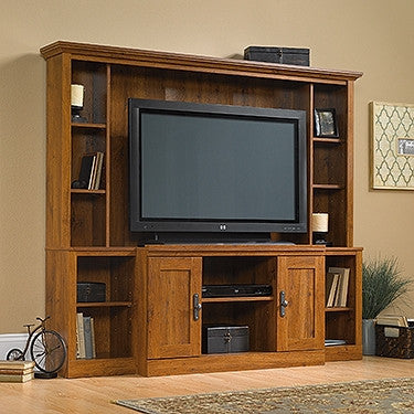 "Contemporay 72"" Wall Unit TV Stand in Abbey Oak Finish"