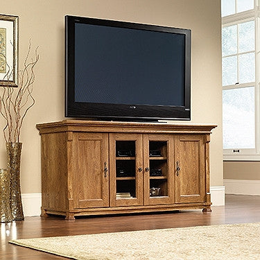 "Modern 59"" Bedroom Height TV Stand in American Chestnut"