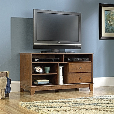 "Modern 47"" Flat Screen TV Stand in Milled Cherry"