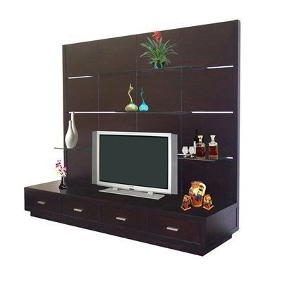 Alto Modern Wall Unit in Wenge Finish