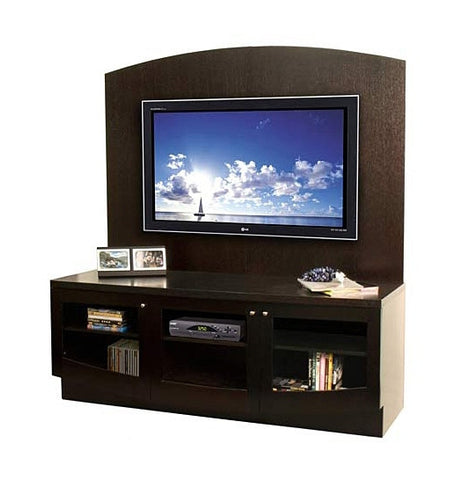 Julius Modern Wall Unit in Wenge with Glass Doors
