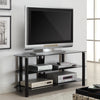 Sleek Modern Black Glass Plasma or Flat Screen Stand