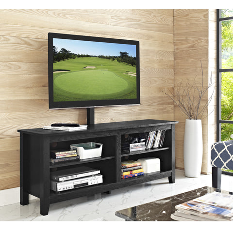 "Modern Black 58"" TV Stand with Integrated Mount"