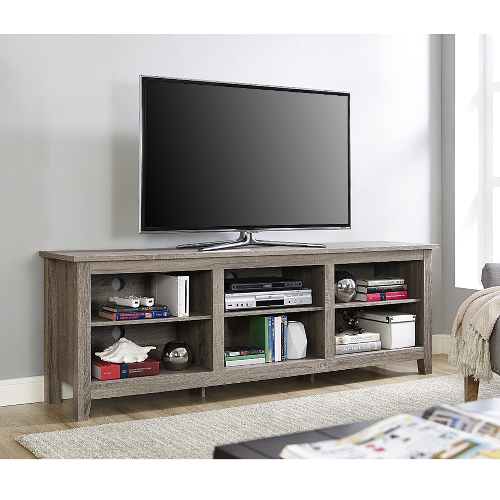 open tv stands open tv stands    open tv stands - modern open concept tv stand in driftwood finish – tvstandcom