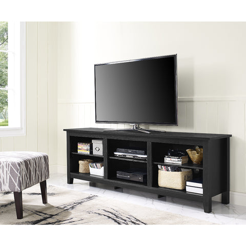 "70"" Black Modern Open Concept TV Stand"