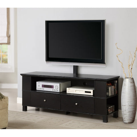 Peterson Modern Black TV Stand with Included TV Mount