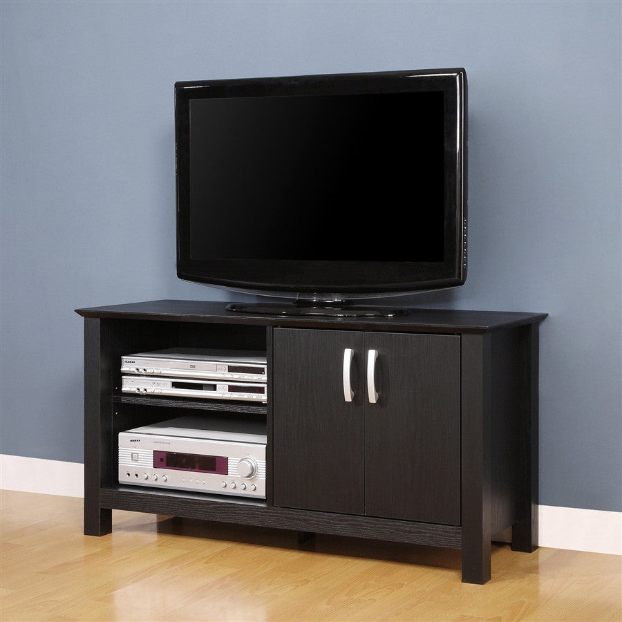 Castillo Collection Black Wood Tv Stand