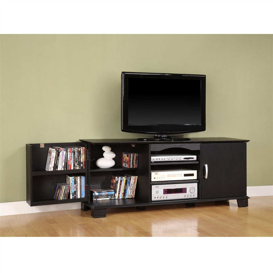 "Jamestown 60"" Black Flat Screen Stand with Storage"