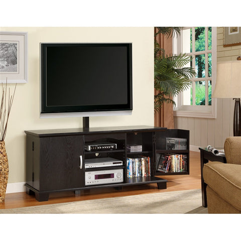 "60"" Black Flat Screen Stand with Included Mount"