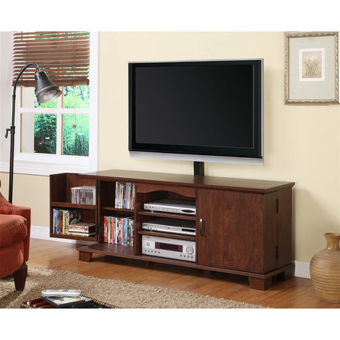 Dark Cherry Console with Included TV Mount
