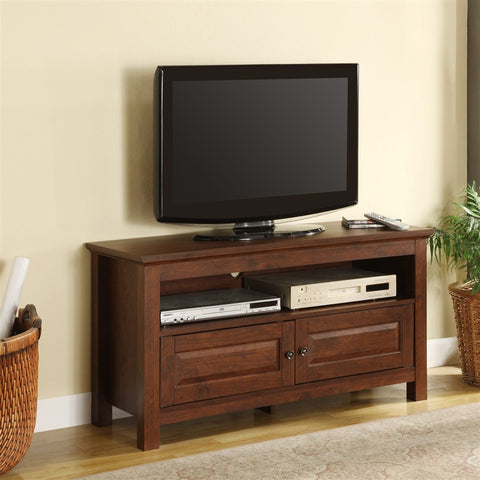 Cortez Collection Textured Brown Compact TV Stand