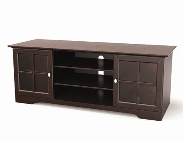 Solid Wood & Veneer Premium Stand in Espresso Finish