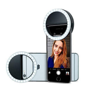 36W LED Beauty Selfie Light Universal Ring Shape with 3 Level Brightness Operation for All Smartphones Tabs