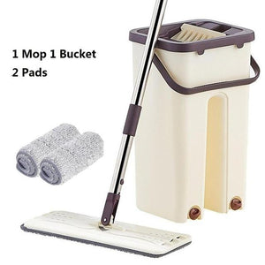 Magic Self-Cleaning Flat Mop & Bucket