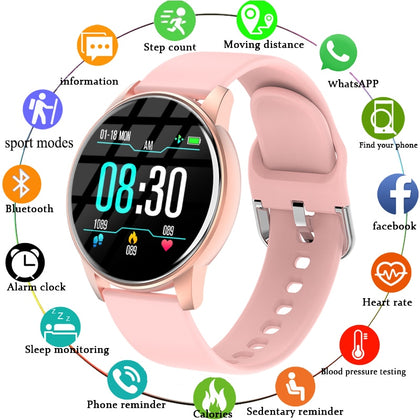 Heart Rate Monitor Sports Ladies Smart Watch For Android IOS