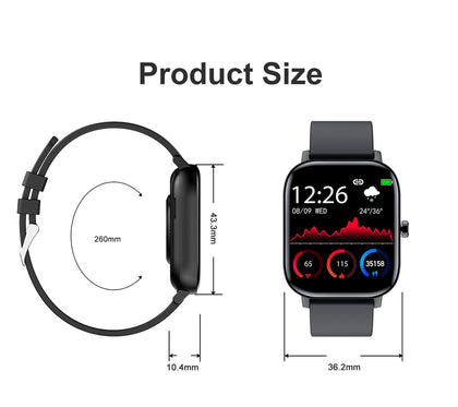 Full Touch Fitness Tracker Blood Pressure Smart Watch