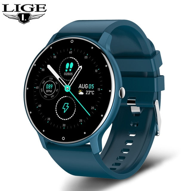 Full Touch Screen Sport Fitness IP67 Waterproof Bluetooth Smart Watch