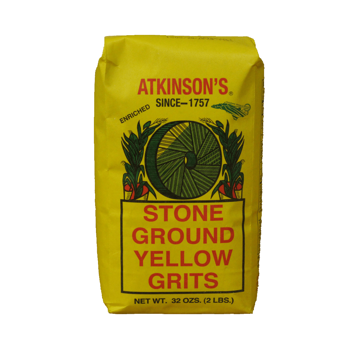 Atkinson Milling Company Atkinson's Stone Ground Yellow Grits 2 lb