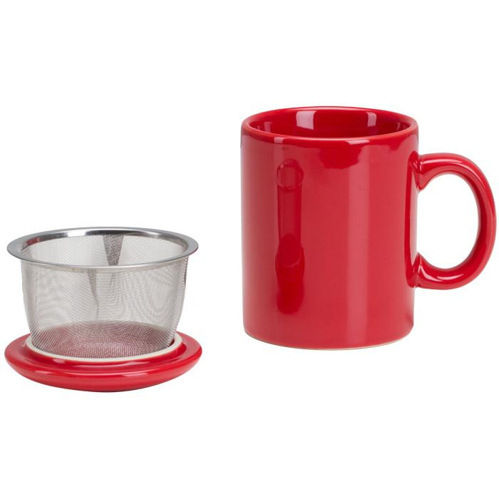 Omniware OmniWare Teaz Cafe Infuser Mug 11 oz - Red