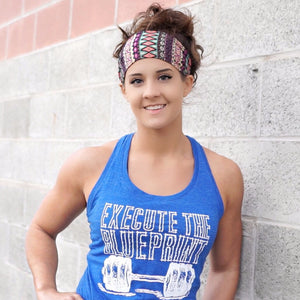Womens Execute The Blueprint Tank (Blue) - ChelseaLifts ‌• RTB