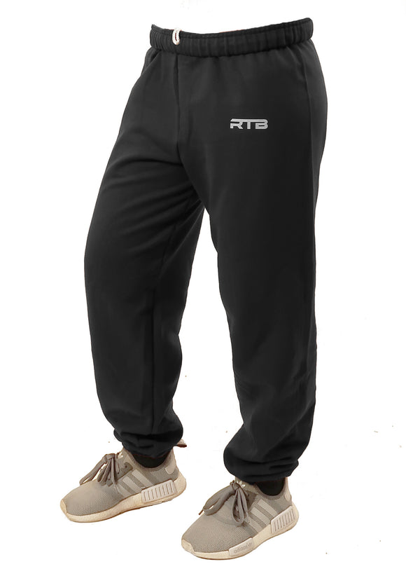 Black Cuffed Sweatpants (Unisex)