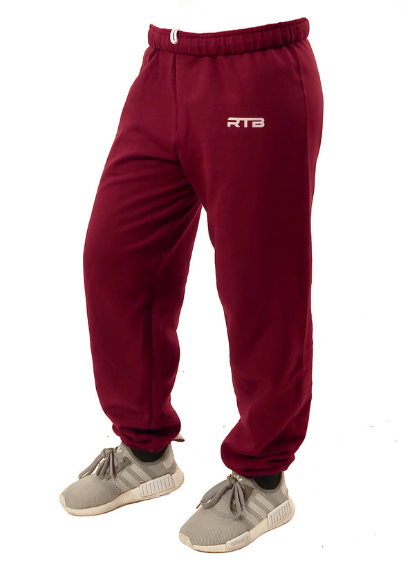 Maroon Cuffed Sweatpants (Unisex)