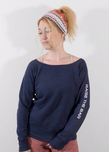 Navy Scoop Neck Sweatshirt