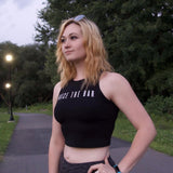 Women's Black Performance Crop
