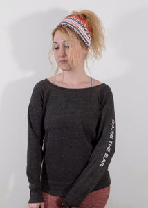 Charcoal Scoop Neck Sweatshirt