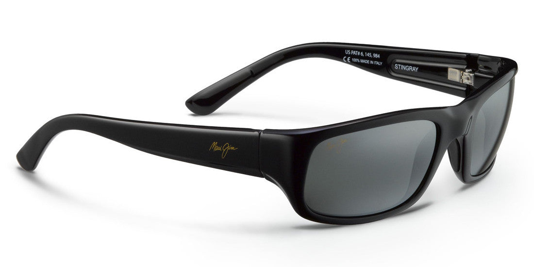 b7bc1db370 Maui Jim Stingray 103 Gloss Black with Polarized Neutral Grey Lenses -  Flight Sunglasses