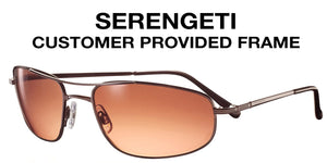 Serengeti Single Vision Sunglasses, Customer Provided Frame (Lenses Only)