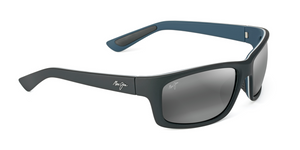 Maui Jim Kanaio Coast 766 Sunglasses<span>- Matte Soft Black with White and Blue and Polarized Neutral Grey Lens</span>