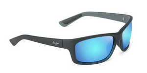 Maui Jim Kanaio Coast 766 Sunglasses<span>- Matte Translucent Blue Black w/Stripe and Polarized Blue Hawaii Lens</span>