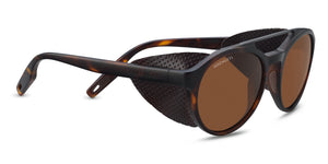 Serengeti Leandro Glacier 8587 <span>- Satin Tortoise/Satin Dark Gunmetal, Brown Leather, Polarized Drivers, Photochromic Lenses</span>